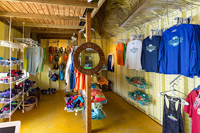 Grabbers giftstore at Sunset Beach on Guana Cay